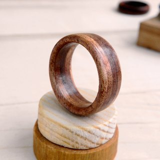 ***will be off the shelf*** Handmade full-red Walnut ring gift with handmade wooden box custom made