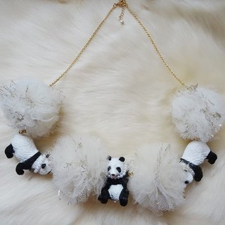 Panda x Ponpon Tulle Necklace