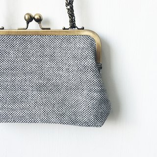 Gray small clasp frame bag/with chain/ cosmetic bag / shoulder bag  /