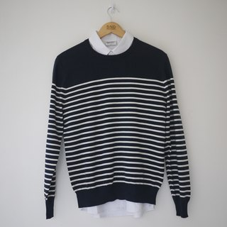 Stripes Sweater/cotton/knitwear/unisex