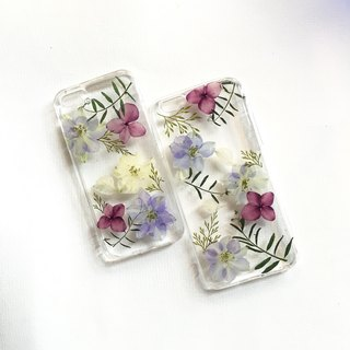 Flying swallow embroidery (light version):: New Year gift dry flower lucky purple phone case