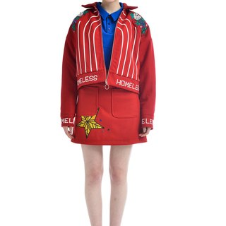 ZIZTAR HOMELESS embroidered pearl coat ZW17-B007