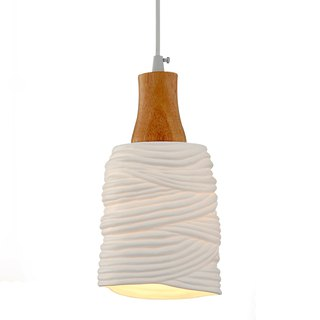 Horizontal stripe transparent ceramic chandelier
