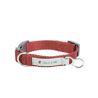 [Tail and me] classic nylon belt collar wine red