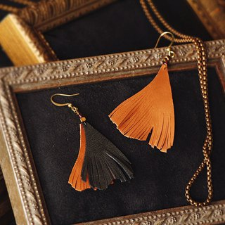 Febbi Ginkgo Leather Earrings