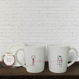 HAPPY BRIDE Couple Coffee Mugs (FREE HAND CREAM)