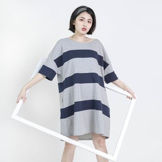 Element Element Stripe Loose Top Dress _8SF106_ Gray Blue