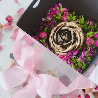 2018 Valentine's Day black gold rose bouquet gift box single loaded