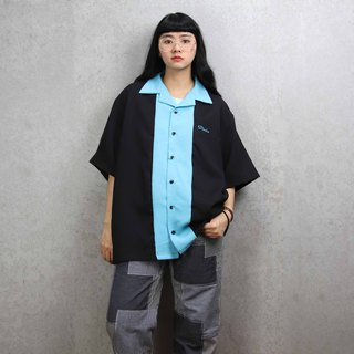Tsubasa.Y ancient house bowling shirt 014, bowling shirt, short-sleeved shirt thin shirt