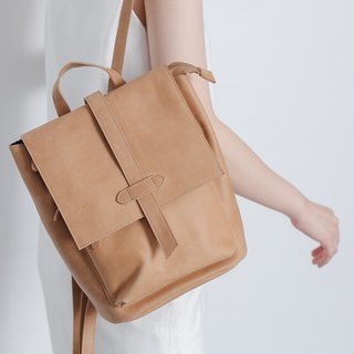Multi-sandwich design mini square post backpack camel