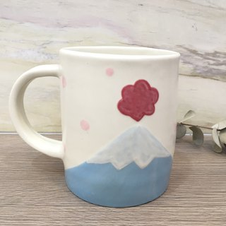 Mount Fuji mug - outbreak (left hand - extra large -650ml)