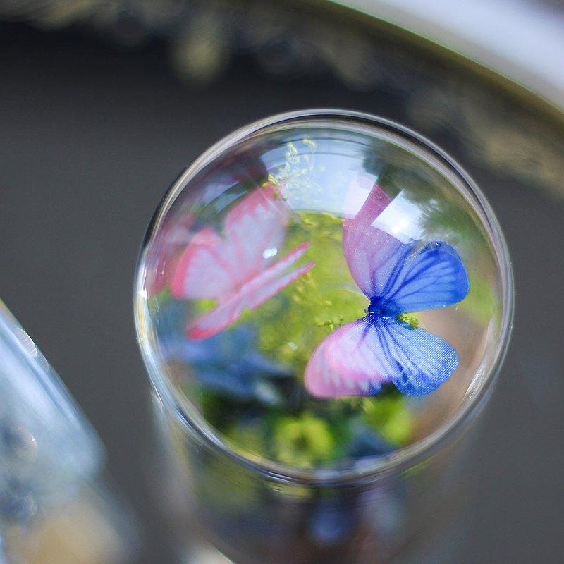 【兩人成行95折】蝴蝶玻璃罩 浮游花  台中手作乾燥花體驗課程