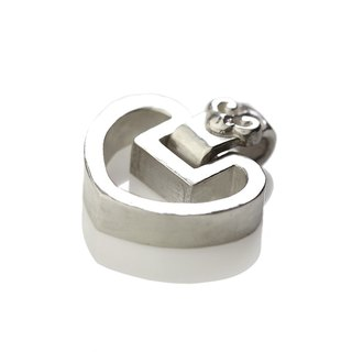 Silver ink NEROSILVER - FH-LLL16 longevity lock longevity [925] silver jewelry heart necklace Chinese wind / manual silver