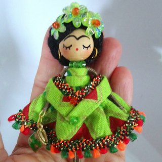 Brooch doll Frida Kahlo