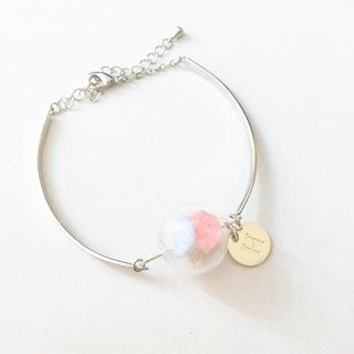 Preserved flower glass ball bracelet personalized