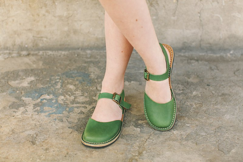 Women Sandals, Greenery Sandals, Summer Sandals, Leather Sandals