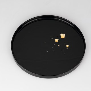 80 inlaid lacquer ware disc (sky light - black)