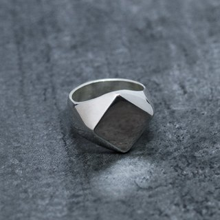 Silver Signet Ring 01 L