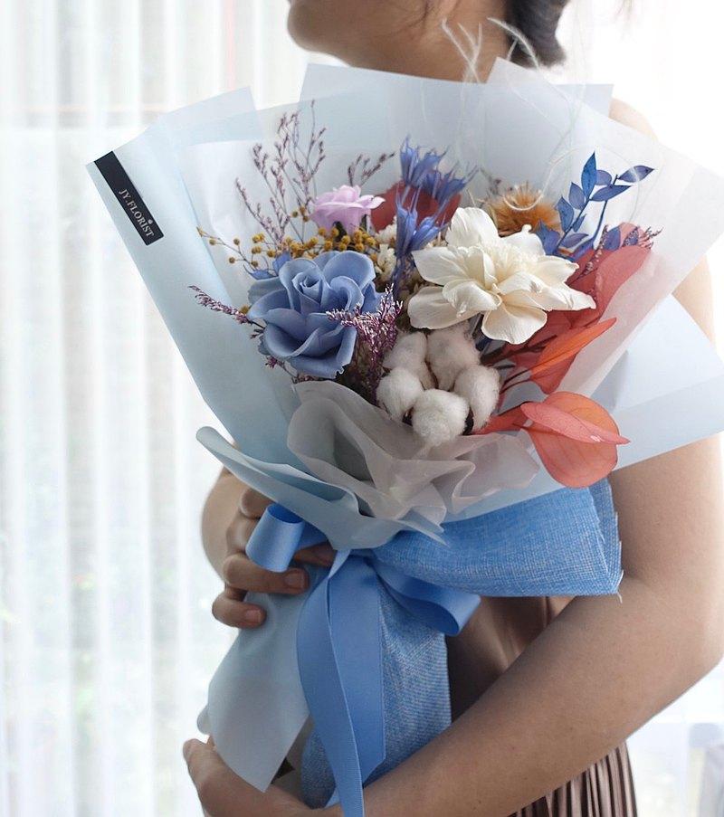 冰雪花束│生日 告白花束 乾燥花束 永生花 畢業花束