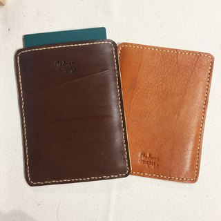 Handmade leather vegetable tanned passport holder C gift