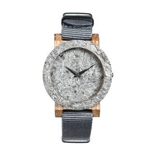 Plantwear - Raw series- Double Silver-Oak Wood Timber Mini Wrist Watch