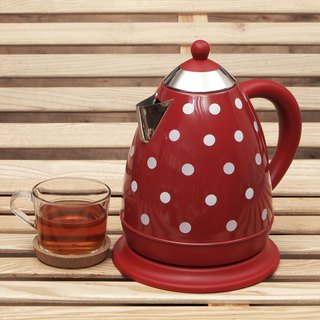 1.7L Cordless Electric Rapid Boil Water Kettle - Big Red Polka