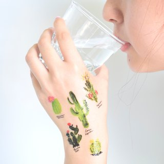 Cactus temporary tattoo buy 3 get 1 Floral tattoo party wedding decoration gift