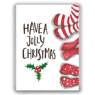 [Christmas] hand-painted illustration Universal Card Christmas / postcards / cards / illustration card - Christmas socks