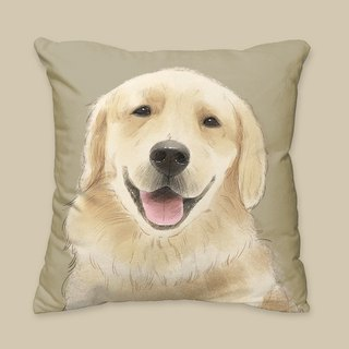 [I will always love you] classic golden retriever dog animal pillow / pillow / cushion