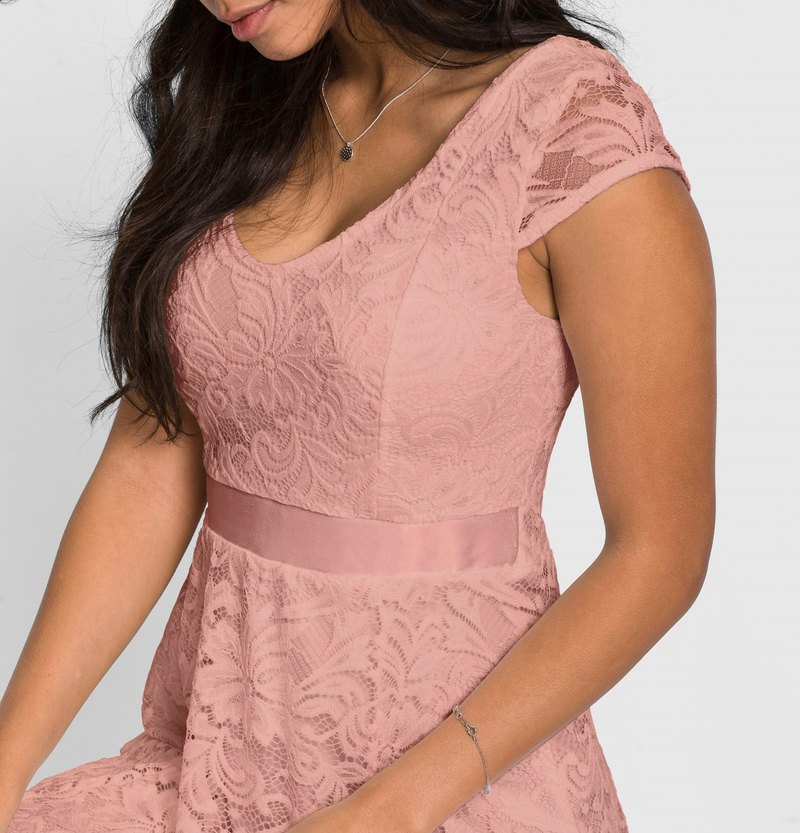 Fashionable lace dress - 3 colors