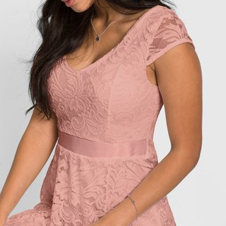 Fashionable lace dress - 4 colors