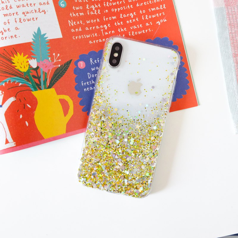 gold luxury | case, handmade, phone case, glitter case, iphone case, samsung ca