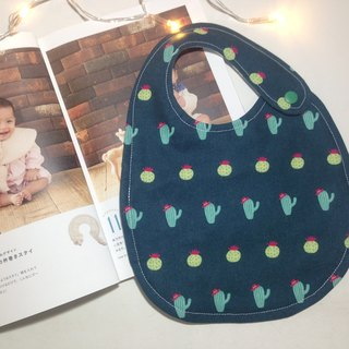 \ Autumn and winter new / small cactus double-sided bib (green)