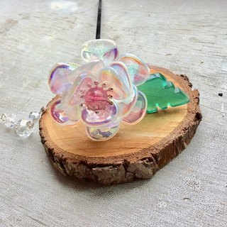 Miao hand made ~ classical rose hairpin (crystal clear plating)