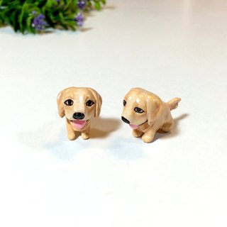 Golden retriever Dog Earrings, Gauge & Plug Earrings, Two Piece Earrings