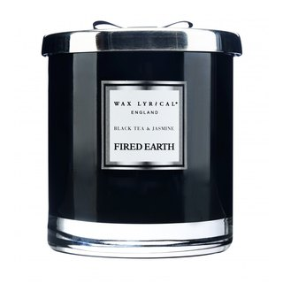 British Candle FIRED EARTH Series Black Tea with Jasmine 2 Core Large Candle
