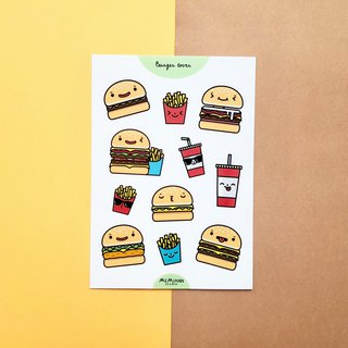 Burger Lover | A6 waterproof sticker