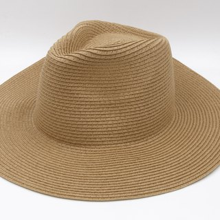 [Paper cloth home] big hat gentleman hat (coffee) paper line weaving