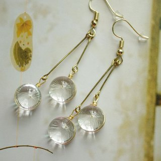 Handmade earrings with Dandelion,Elegant and popular earrings
