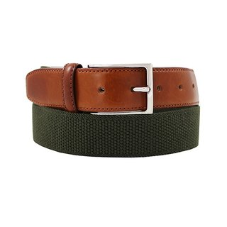 LAPELI │ Belgium elastic fabric belt - a little dark green color