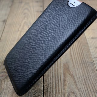 APEE leather handmade ~ plastic phone holster ~ natural rejection pattern black ~ (iphone 8 plus)