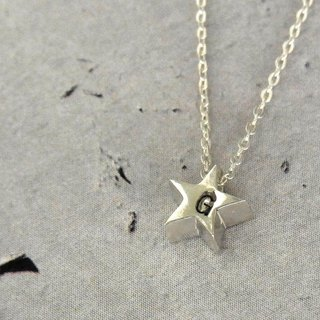 [Marking order accepted] Initial Petit Star Necklace / silver