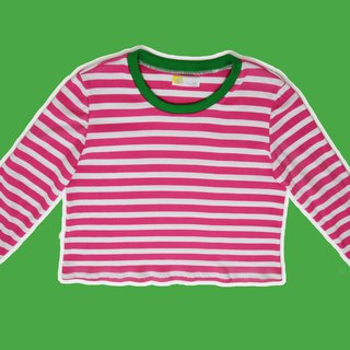Pinky Stripe Long Sleeves Top