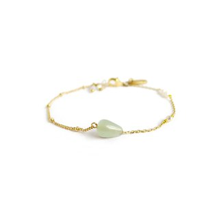 Ficelle | Handmade Brass Natural Stone Bracelet | [Dongling Jade] Walking with You - Bracelet