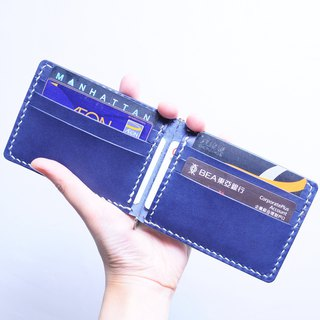 6-inch banknote clip - well-stitched leather material foreskin clip Italian leather vegetable tanned leather DIY