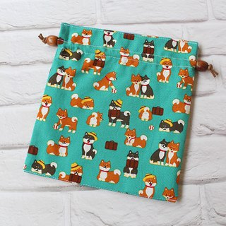 Shiba Inu with friends bundle pocket storage bag cosmetic bag