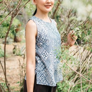 Mulmul pattern tank top