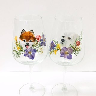 Exclusive Order - Hand-painted Animal Petal Wedding Cups Custom-made