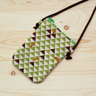 Triangle Giraffe Mobile Phone Bag_Green