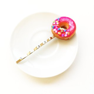 New Donut Hairclip pink 2